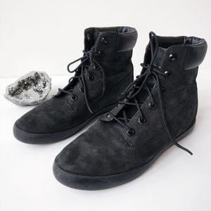 TIMBERLAND Flannery Waterproof Black Leather Boots